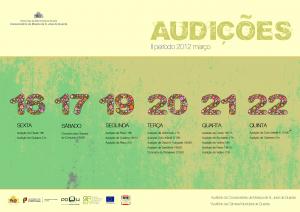 Calendário de Audições do II Período