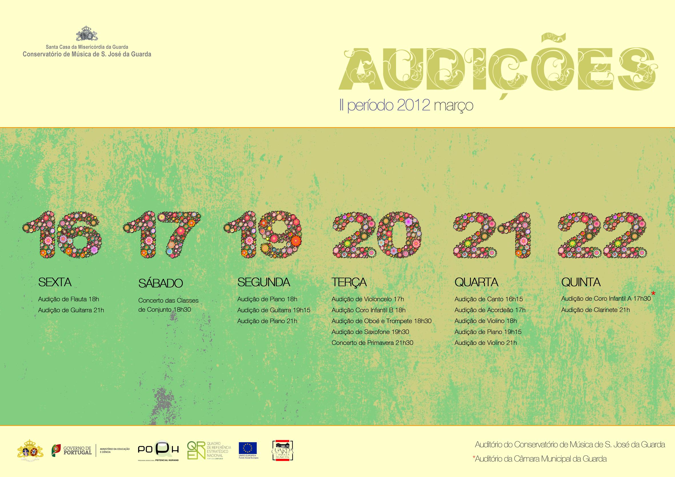 Audições II Período 2011/2012