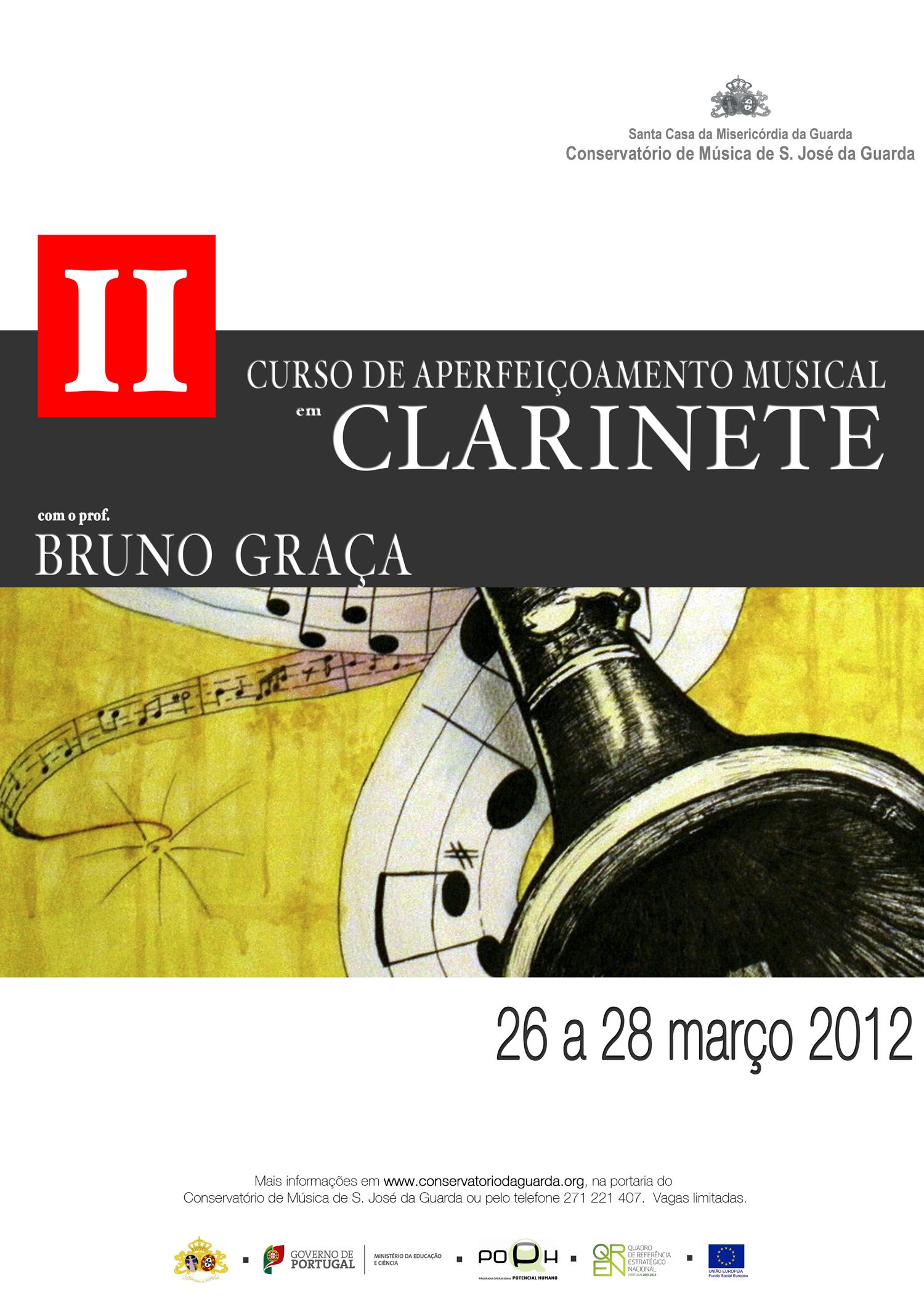 Curso de Aperfeiçoamento Musical em Clarinete com o prof. Bruno Graça