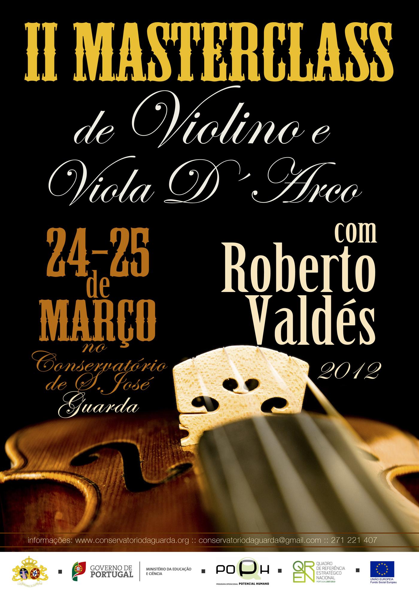 Curso de Aperfeiçoamento Musical em Violino com o prof. Roberto Valdez